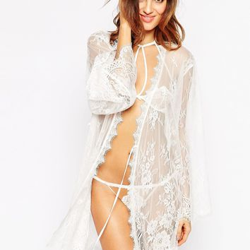 Ann Summers Saffron Lace Robe