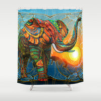Elephant's Dream Shower Curtain by Waelad Akadan