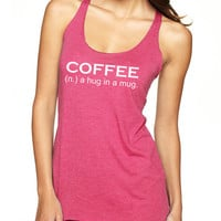 Workout Tank Gym Tank Motivational Workout Tank Gym Shirt Coffee F03