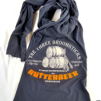 Harry Potter Butterbeer Scarf American Apparel Jersey Cotton Long Scarf