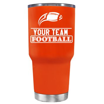 TREK Personalized Football Team on Vermilion 30 oz Tumbler Cup