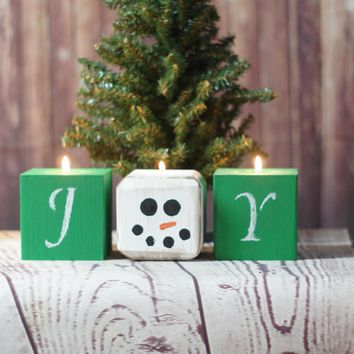 Snowman Holiday Candles, Party Decoration