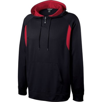 Holloway 229078 Affliction Hoodie - Black Scarlet