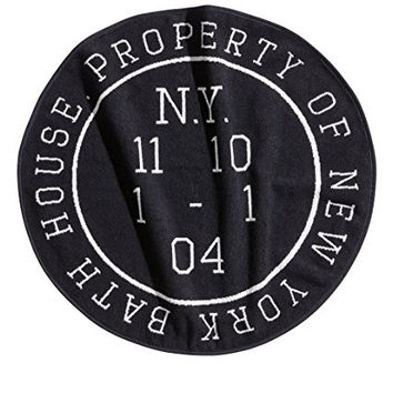 Property of New York Bath House - Round Cotton Bath Mat - 28-in