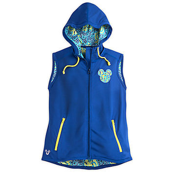 Mickey Mouse Mosaic Sleeveless Hoodie Performance Jacket for Women | Disney Store