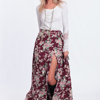 Beyond The Desert Floral Wrap Skirt