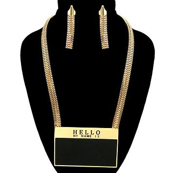 af0f8a83e028f Best Gold Name Tag Necklaces Products on Wanelo