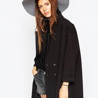 ASOS Felt Floppy Hat With Colour Block Brim