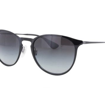 NEW Authentic Ray-Ban RB3539-002/8G Unisex ERIKA METAL Black Wire Rim Sunglasses