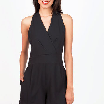 Tailored Halter Romper