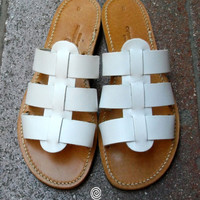 Handmade Sandals - HELECTRA WHITE 25