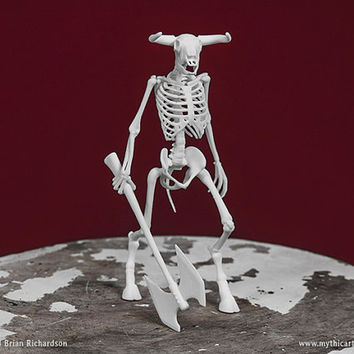 Minotaur Skeleton 3D Print Taxidermy Sculpture