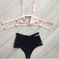 Swimsuit Beach Hot Summer New Arrival Ladies Swimwear High Waist Bandages Sexy Bikini [9666738567]