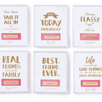Say Something Bar Necklace in Gift Box   Asst 6 Designs