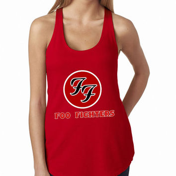 Foo Fighters Rock Band Logo Cool band ever RED Tank Top, Lady Women Fit Tee, Sweater Hoodie Tshirt Tank Top