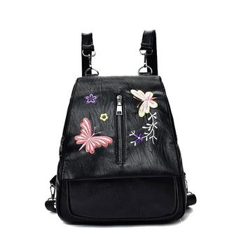University College Backpack Fasion PU Leather s For Adolescent Girls Embroidery  Female  To School Notebooks Laptop  BagAT_63_4