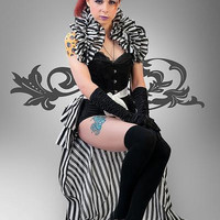 Halloween Long Burlesque PIRATE ROMANCE Bustle STEAMPUNK By Gothic Burlesque