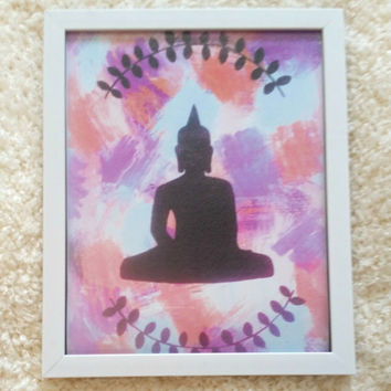 Buddha 8.5 x 11 inch art print poster for bed room, dorm room, office, or home decor