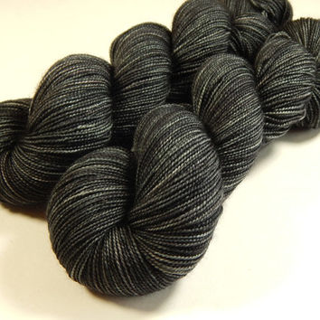 Hand Dyed Yarn - Sock Weight Superwash Merino Wool Yarn - Slate Grey Tonal - Knitting Yarn, Sock Yarn, Gray, Wool Yarn