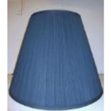 "32209 Navy Blue Mushroom Pleat Table Lamp Shades - 7"" Top X 14"" Bottom X 11"" Height"