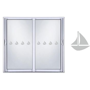 Etched Glass Vinyl Decals Sliding Door Safety Stickers Sail Boat
