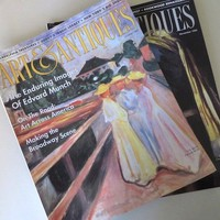 1995 Vintage Magazine / Art & Antiques / Edvard Munch / Vermont's Finest / On The Road Art Across America / Broadway Scene / October Issue