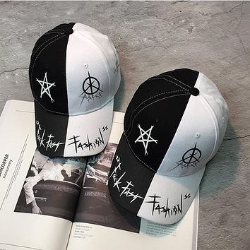 Unisex Fashion Personality Graffiti Multicolor Flat Cap Hip-hop Baseball Cap Couple Sun Hat