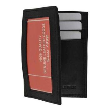 Leather Money Clip & Credit Card Wallet For Men