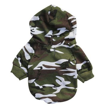 Fun Camouflage Sweatshirts Dog Clothes & Cat Clothes
