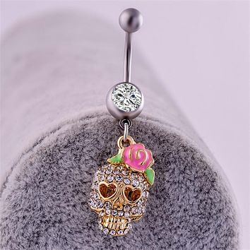 Skull 💀 Stainless Steel Navel Piercing