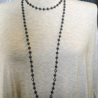 Gray Double Wrap Necklace
