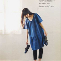 Simple Chic - Tomomi Okawa - Japanese Sewing Pattern Book for Women Clothing - Stylish Clothes, Pants, Easy Dress, Blouse, Tunic - B814
