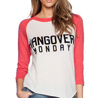 Wildfox Couture Superbowl Monday Graphic Tee in White