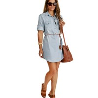 Lt.. Blue Weekender Denim Tunic