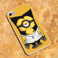Wolverine Minion Marvel Design For iPhone4/4s Case, iPhone 5/5s/5c Case, Samsung S3/S4 Case