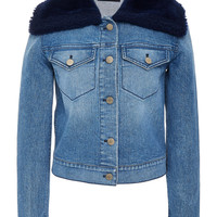Denim Jacket With Shearling Collar | Moda Operandi