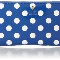 kate spade new york Carlisle Street Lacey Wallet,Bluebell/Cream,One Size