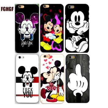 Cute Cartoon Mickey/Minnie/ Batman  Hard Plastic Phone Case Cover For iphone 4 4s 5 5s se 5c 6 6s plus 7 7plus 8 8plus