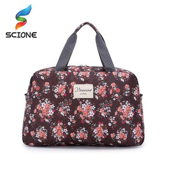 2017 Hot Women Lady Large Capacity Floral Duffel Totes  Sport Bag Multifunction Portable Sports Travel  Luggage Gym Fitness Bag