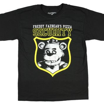 Five Nights At Freddy's Security Boys Youth T-shirt Licensed