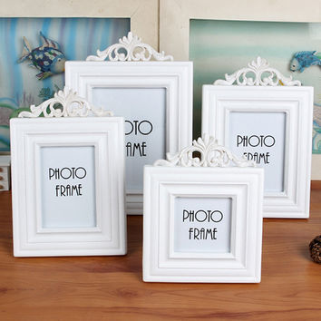 Home Decor Children White Hollow Out Photo Frame [6254451334]