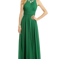Badgley Mischka Fluorite Emerald Gala Gown