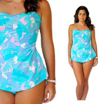 Vintage Swimsuit -- Retro Swim -- Vintage 1970s Teal Swimsuit -- Vintage Bathing Suit -- Spring Fashion -- Summer Fashion