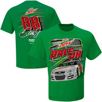 Dale Earnhardt Jr. Checkered Flag Flat Out T-Shirt – Kelly Green