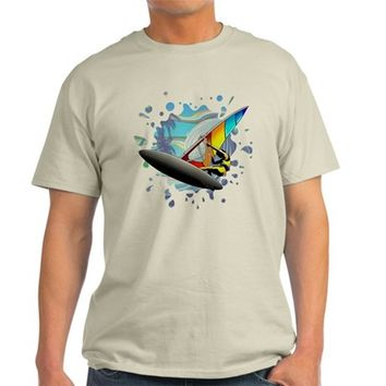 Windsurfer on Ocean Waves Dark T-Shirt