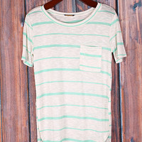 Get Up And Go Stripe Shirt - 2 Colors