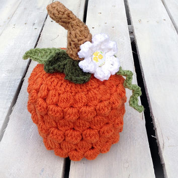 Pumpkin Hat, Photography Prop, Photo Prop, Pumpkin, Halloween, Halloween Costume, Crochet Pumpkin, Newborn, Baby, Hat, Beanie