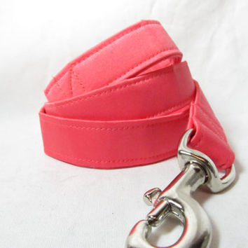Designer Dog Leash - Guava Satin Dog Leash - Coral Dog Leash, Wedding Dog leash
