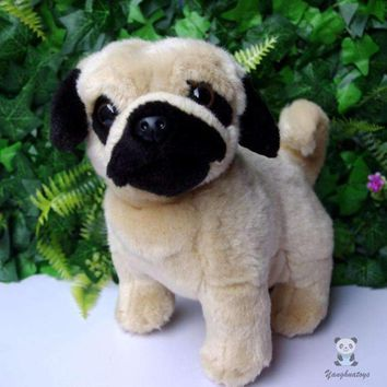 Pug Dog Stuffed Animal Plush Toy 8""