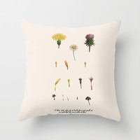 Fair Weed Throw Pillow by anipani